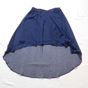 Dresses & Skirts - Blue high low skirt